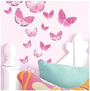 Main Street Wall Creations Jumbo Stickers Wall Decals - Pink Butterflies (2 Pack)