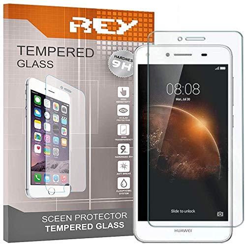 REY 3X Protector de Pantalla para Huawei Y6 II Compact, Cristal Vidrio Templado Premium
