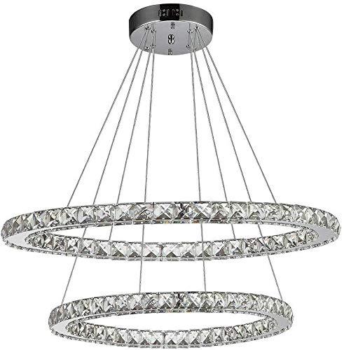 TEMBAC lampadario di cristallo Luci regolabili contemporanea soffitto Infissi fai da te pendente di disegno di illuminazione a LED Perfetto for sala da pranzo, Ingresso