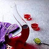 Cheers Karaffe Rotwein Dekanter Kristallglas Wine Decanter Dekantierer Glas Weinkaraffe 1,2 Liter Top Wein Geschenk Zubehör Weinbelüfter Wein Karaffen Dekantierausgießer Geschenkset Dekantier Deko - 9