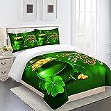 ROVZZC Juego de cama de Cofre del tesoro verde de cuento de hadas impresa en 3D para Adolescente Juego de funda nórdica con 2 fundas de almohada Juego de Funda de edredón de microfibra antialérgico 26
