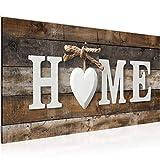 Bilder Home Holz Wandbild Vlies - Leinwand Bild XXL Format Wandbilder Wohnzimmer Wohnung Deko...