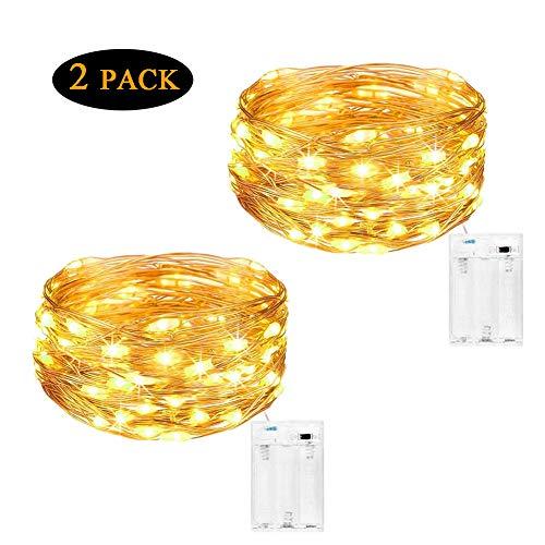 Cadena de Luces para Interiores y Exteriores 4 Metros, 40 LEDs Luces Micro de Hadas a Pilas de Alambre de Cobre...
