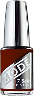 Mode, Nail Lacquer, Leather Vault (Deep Oxblood Brown Red) 0.50 fl oz, Professional Salon Nail Polish, Potent Color, Long Wear, High Gloss, Chip Resistant, Cruelty Free, Vegan, Made in Beautiful USA