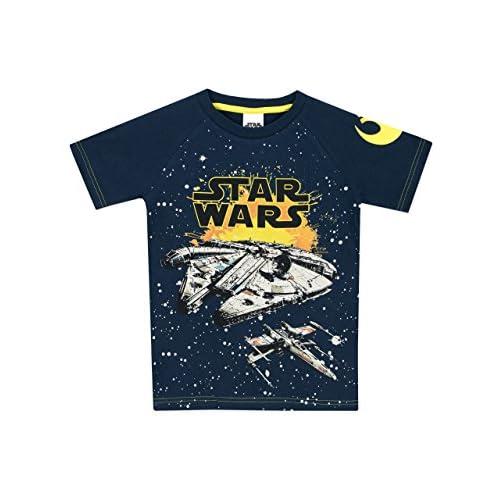 Star Wars - Maglietta a Maniche Corta Ragazzi - Millennium Falcon - 9 a 10 Anni