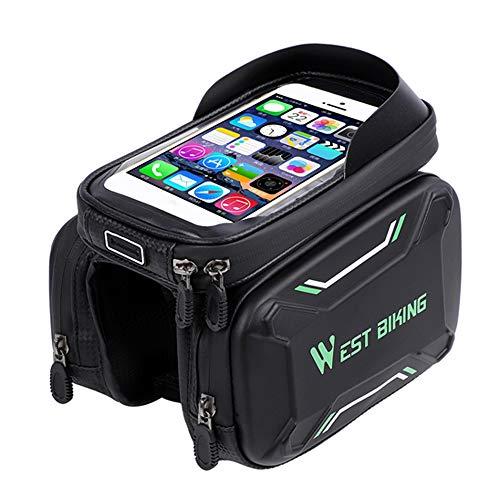 Benkeg-Bicycle Tassen Voorframe Fijne kwaliteit MTB Fietstas Fietsen Accessoires Waterdicht Scherm Raakt TopTube Telefoontas 180 * 100 * 300mm