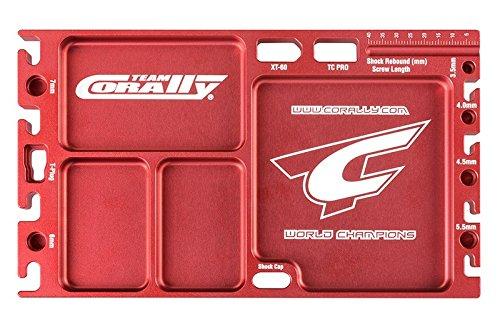 Team Corally - Multi-Purpose Ultra Tray - CNC Machined Aluminium - Rouge