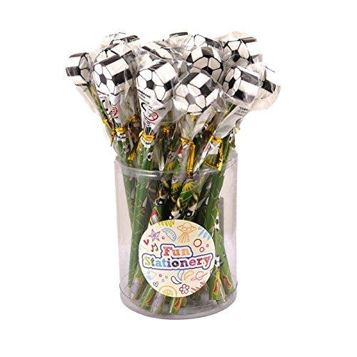 24 x Voetbal Potloden Met Novelty Erasers Toppers - Groothandel Bulk kopen