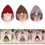 Porta Cubiertos navideño 3 Piezas Bolsillos para Cubiertos Decoraciones navideñas para la Mesa Porta vajilla Porta Cubiertos para Cuchillo y Tenedor Decoración navideña