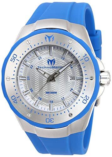 Technomarine Men's Sea Manta Stainless Steel Quartz Watch with Silicone Strap, Blue, 30 (Model: TM-218016)