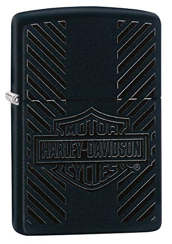 Zippo Harley-Davidson Classic Logo Black Matte Pocket Lighter