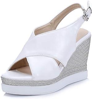 BalaMasa Womens ASL06295 Pu Platform Heels