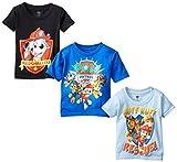 Nickelodeon Little Boy's Toddler Paw Patrol Toddler Boys T-Shirt 3-Pack, Black/Royal/Light Blue, 4T