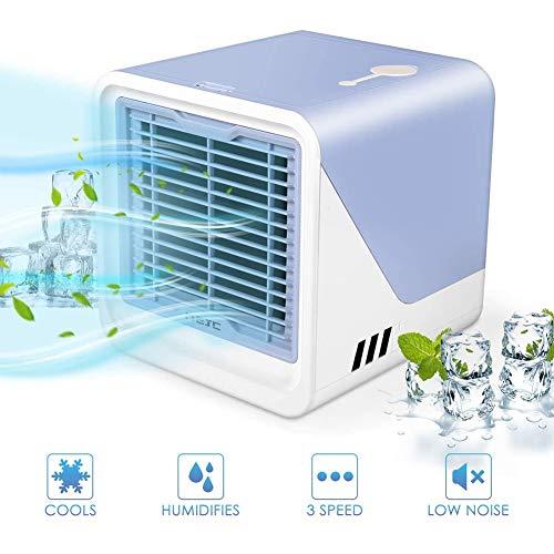 Mini Luftkühler Tragber Klimageräte 3 in 1 Mini Air Cooler, USB Ventilator, 3 Kühlstufen Für Zu Hause, Büro, Auto, Hotel, Garage, Camping