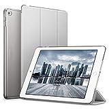 ESR Funda iPad Air 2 Silicona [Auto-Desbloquear] y Función de Soporte [Ligera] de Cuero Sintético y Plástico Duro Transparente Esmerilado Smart Cover Cáscara para Apple iPad Air 2 -Gris