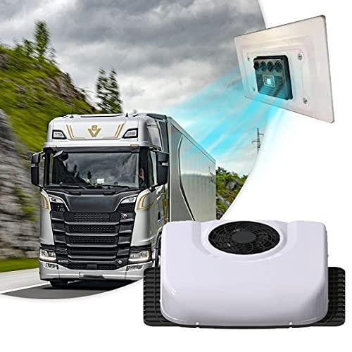 BLLJQ 24V Aire Acondicionado Camion, 3000W Enfriamiento Caravanas Climatizador, 50 Pies Cuadrados, Volumen De Aire 450 M/H, Silent, Bajo ConsumoEnergía, Cuatro Modos, Protección Seguridad