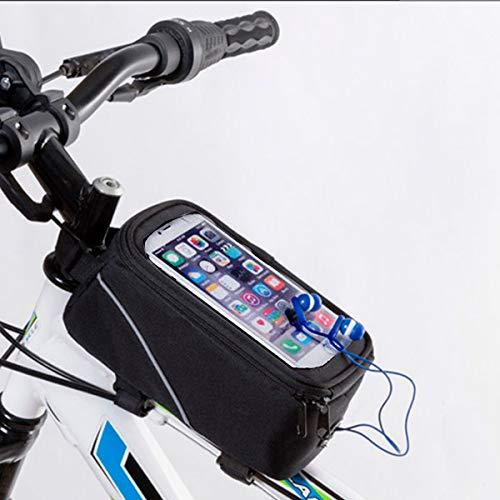 Swizon Beste Fietstas met koptelefoon uitgang en Smartphone ondersteuning voor Bike Sport Life