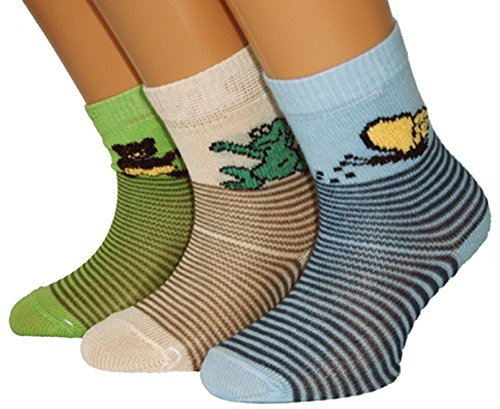 Shimasocks Kinder Socken 3er Pack, Größe:27/30 bzw. 110/116, Farben alle:für Boys ecru/lindgrün/bleu