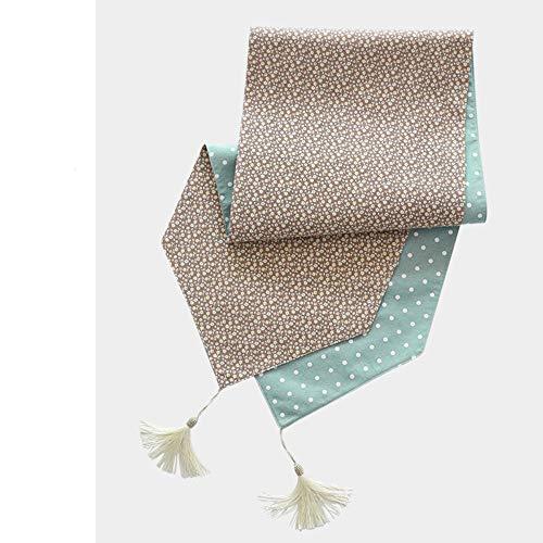 KRXLL Chemin de Table Simple Coton Lin Art Table À Thé Table À Thé Comptoir Couvercle Tissu 34 * 150 cm-Couleur café_34 * 150cm