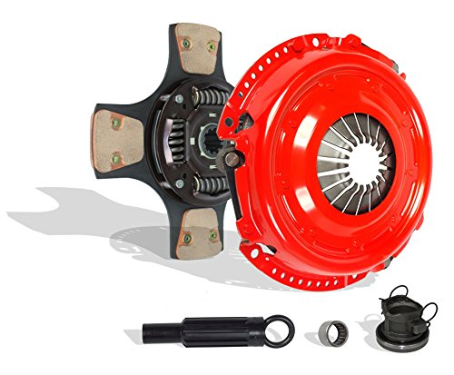 Clutch Kit compatible with Wrangler Liberty Se Sport Unlimited X 65 Aniversario X Sport 2000-2006 4.0L L6 GAS OHV 3.7L V6 GAS SOHC Naturally Aspirated (4-Puck Disc Stage 3; 01-038RCB4)