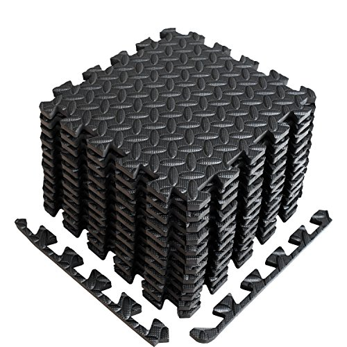 A2ZCARE Puzzle Exercise Mat with EVA Foam Interlocking Tiles (Protective Flooring) - Ideal for Home Gym, Aerobic, Yoga & Pilates