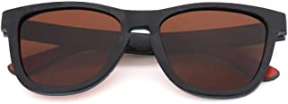 LUKEEXIN Unisex Wood Polarized Sunglasses for Fishing Driving Sport- UV400 Protection (Color : Brown)
