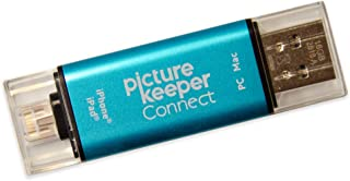 Picture Keeper Connect 32GB Portable Flash USB Backup and Storage Device Drive for Mobile Phones Tablets and Computers (Turquoise)