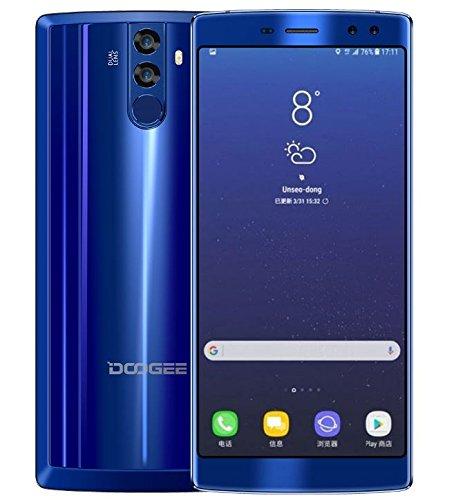 DOOGEE BL12000 - 6.0 pulgadas FHD + (relación 18: 9) 12000mAh batería Android 7.0 4G Smartphone, Octa Core 1.5GHz 4GB + 32GB, cámaras Quad (16MP + 8MP + 16MP + 13MP), carga rápida - Azul
