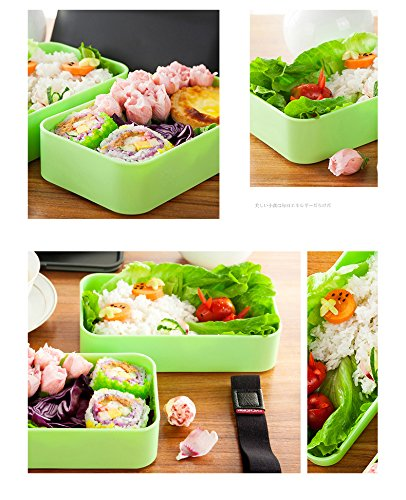 YOYO HOME Leakproof Bento Lunch Box With Insulated Bag And Cutlery, All-in-one Stackable Food Container 42oz/1200ml - (gray)