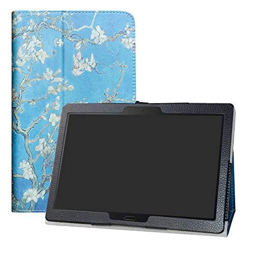 LFDZ Lenovo Tab M10 HD Case,Slim Folio Folding Stand PU Leather Cover for 10.1' Lenovo Tab M10 HD (TB-X505F,TB-X605F) / Smart Tab P10 (TB-X705F) Tablet(Not fit Lenovo M10 HD (2nd Gen)),Almond Blossom