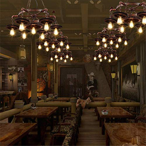JINHUADAI Vintage chandelier industrial, loft-style steam punk ceiling lighting chandelier wrought iron chandelier, bedroom living room dining perfect lighting steampunk buy now online