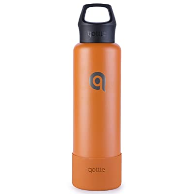 qottle Stainless Steel Water Bottle - 24oz Doub...