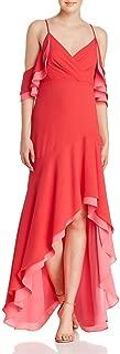 BCBG Max Azria Womens Cold Shoulder Hi-Low Evening Dress