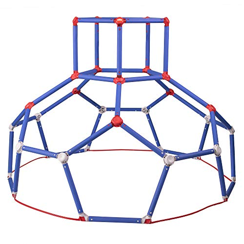 Lil' Monkey Dome Climber Kids Climbing Toy Outdoor Jungle Gym with Hexagon Design for Extra Swinging and Climbing Fun for Toddlers Aged 3 to 6