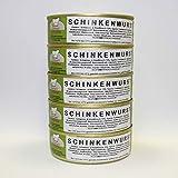 Schinkenwurst 5x200g Dose, glutamatfreie Dosenwurst, Vorteilsset, Vorratsset, Landmetzgerei Sandritter