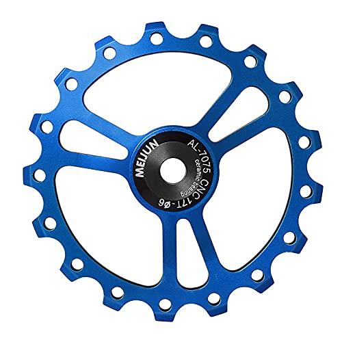 OhhGo 17 T calidad aleación de aluminio bicicleta desviadores trasero CNC rodamiento bicicleta 68mm guía rueda Ciclismo suministros