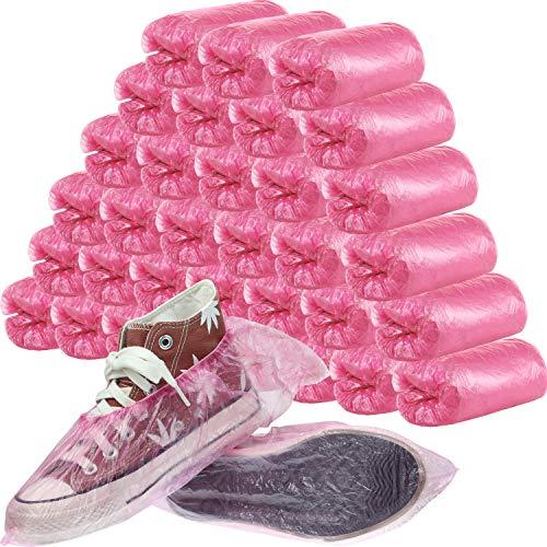 SATINIOR 400 Piezas (200 Pairs) Cubiertas de zapatos y Botas desechables para...