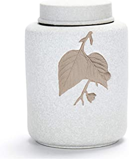 RMXMY Keepsake Ashes Urns Sealed Pot Ceramics Cremation Urns Funeral Urns Ashes Adult Large - Hand Made in Brass & Hand Engraved - Display Burial at Home in Niche