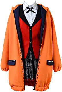 Kakegurui Compulsive Gambler Runa Yomotsuki Costume Jacket Long Hooded Coat