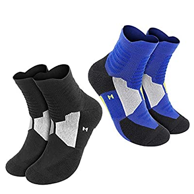 Tusscle Hiking Socks, [2 Pairs] Men's & Women's Walking Socks Cushioned Sports Outdoor Socks