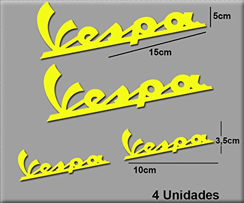 Ecoshirt PM-BY9J-4XSF sticker Vespa R74 stickers, geel