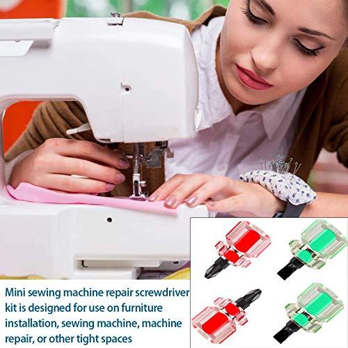Buspoll Mini ultrashort flat head and Phillips screwdriver set, sewing machine tool concept