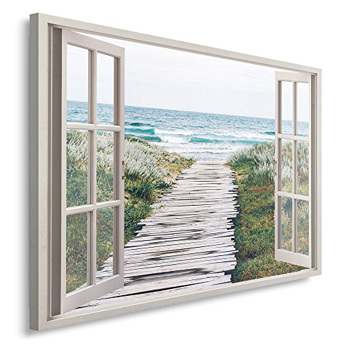 Feeby Print Wall Art Picture Image Printed on Canvas 120x80 cm Single Panel Ocean Sea Nature