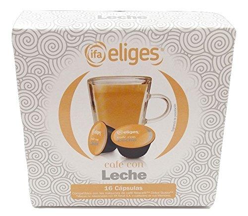 Ifa Eliges Café con leche - 16 cápsulas compatibles Dolce Gusto