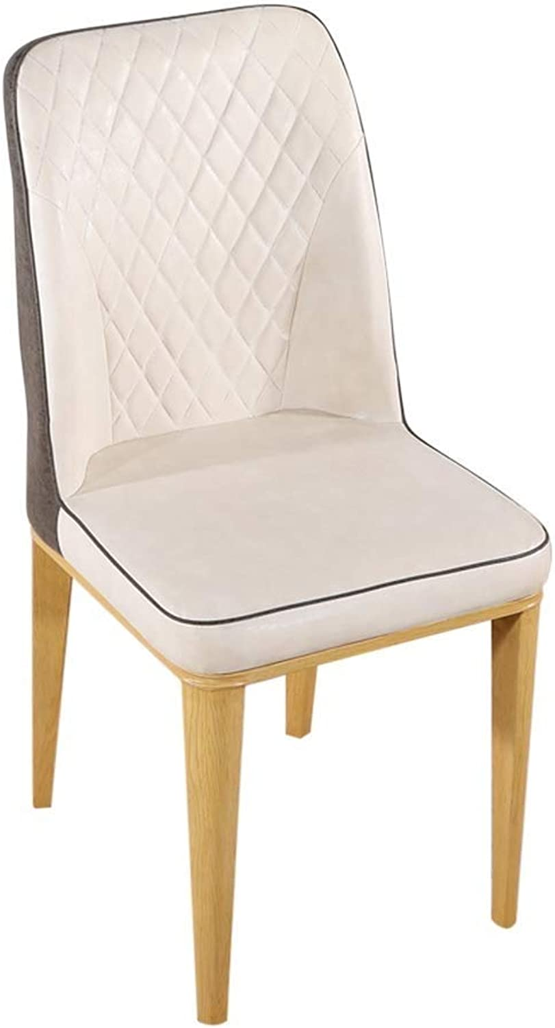 New Nordic Dining Chair, Simple Fashion Imitation Leather Back Lounge Chair Solid Wood Bracket Home Bedroom Chair Cafe Thickening Cushion Soft and Comfortable (color   C)