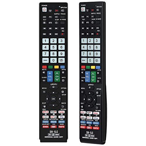 Alkia Universal Luminous Replacement Aquos Fernbedienung SH-1LC für Sharp AquosTV/Lernen / 3D / LCD/LED/HDTV, funktioniert mit Allen scharfen Fernsehern LED/LCD/Plasma (im Dunkeln Leuchtend)