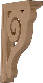 """Ekena Millwork BKT01X06X08BURW-CASE-2 Bulwark Bracket, Rubberwood (2-Pack), 1 1/2"""" W x 6"""" D x 8 1/2"""" H, 2 2"""