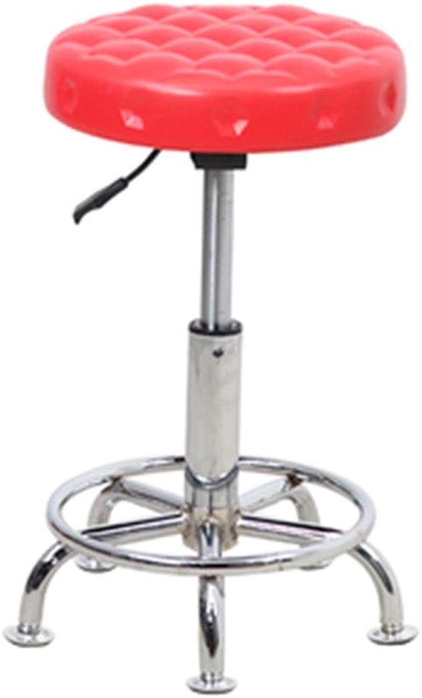 Bar Chair Chair Lift Beauty Stool Barber Chair Swivel Chair Sliding Wheelchair Work Chair 5 colors 1 Size (color   C)