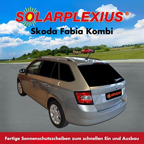 Solarplexius Sonnenschutz Autosonnenschutz Skoda Fabia III Typ NJ Kombi ab Bj. ab 14 Scheibentönung Sonnenschutzfolie