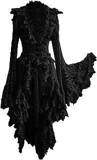 Womens Plus Size Gothic Steampunk Dresses Retro Renaissance Medieval Victorian Costume Dresses Lace Patchwork Bow Dress